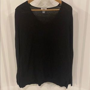 Black VNeck Knit Sweater